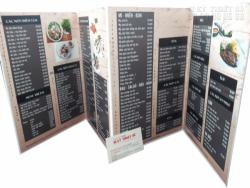 In thực đơn, in menu chất lượng giá rẻ tại Bình Thạnh