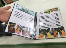 Những lưu ý khi in thực đơn cho nhà hàng