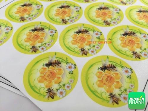 In tem decal nhựa làm tem nhãn sản phẩm - độ bền cao - sản phẩm để được trong môi trường lạnh, tủ lạnh, tủ mát