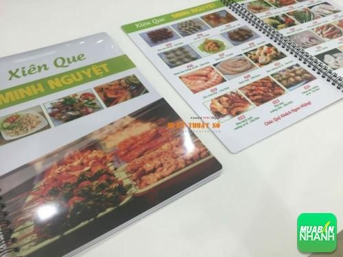 Menu lò xo từ tấm thẻ nhựa lớn cho Xiên Que Minh Nguyệt