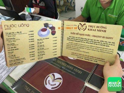 In menu bìa nhựa, ruột giấy cho quán cafe