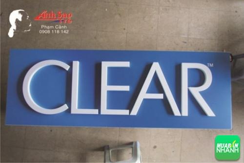 Chữ nổi mica làm bảng hiệu Clear