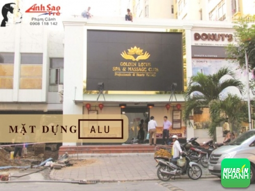 Mặt dựng Alu cho showroom cao cấp