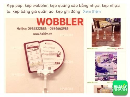 Wobbler quảng cáo được đăng bán online