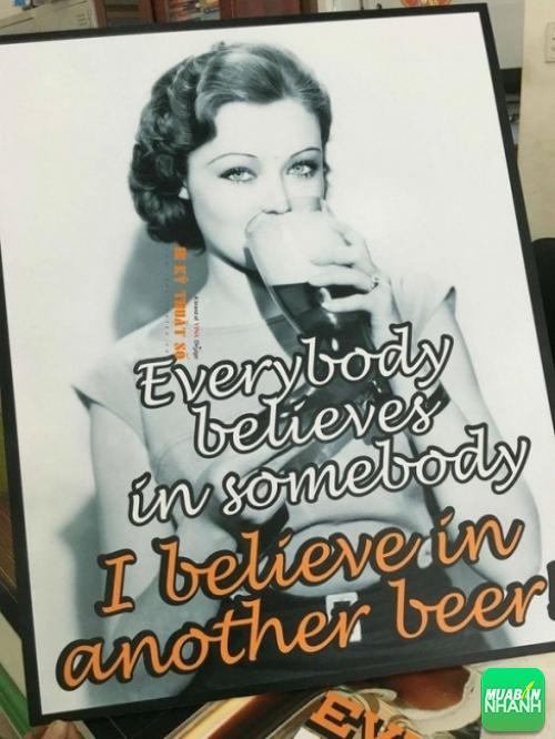 In PP cán format với hình ảnh tuyệt đẹp quảng cáo cho nhà hàng Beer