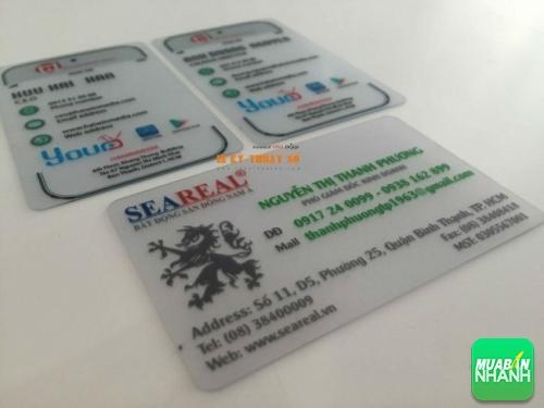 Thẻ nhựa trong suốt mang lại sự sang trọng, đẳng cấp cho người dùng