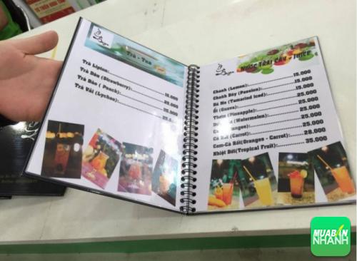 In menu bìa PP giấy cứng chất lượng cao mang đến sự sang trọng cho nhà hàng của bạn