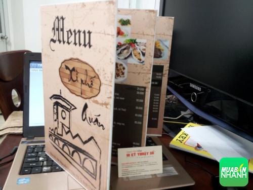 Thực đơn đẹp in cho nhà hàng ăn uống trên chất liệu PP cán format